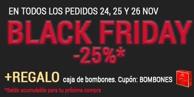 Black Friday Florclick - 25% descuento flores online - Regalo bombones