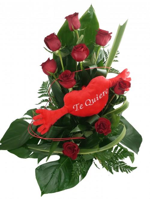 Abrazos 9 Rosas Rojas