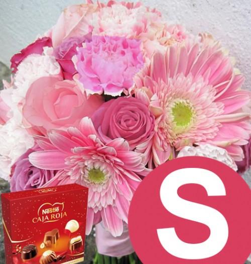 blanc rosa fucsia -S- + caja roja 45