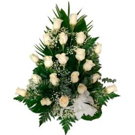 Centro 12 Rosas Blancas