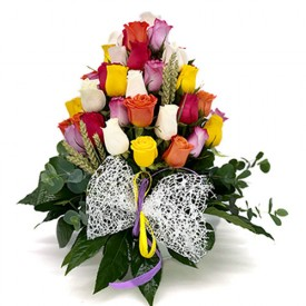 Centro 50 Rosas Multicolor