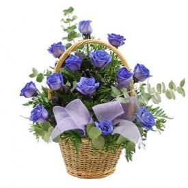 Cesta 18 Rosas Azules