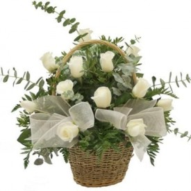 Cesta 18 Rosas Blancas