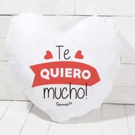 Cojín corazón - Te quiero mucho