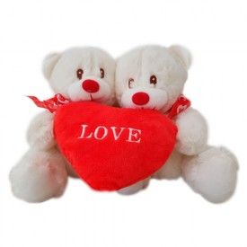 Pareja Ositos corazón Love
