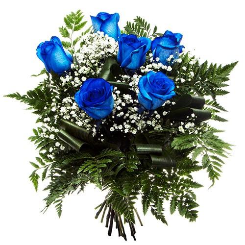 Ramo 6 Rosas Azules