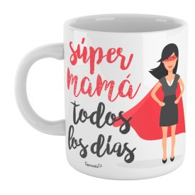 Taza Súper mamá todos los dias